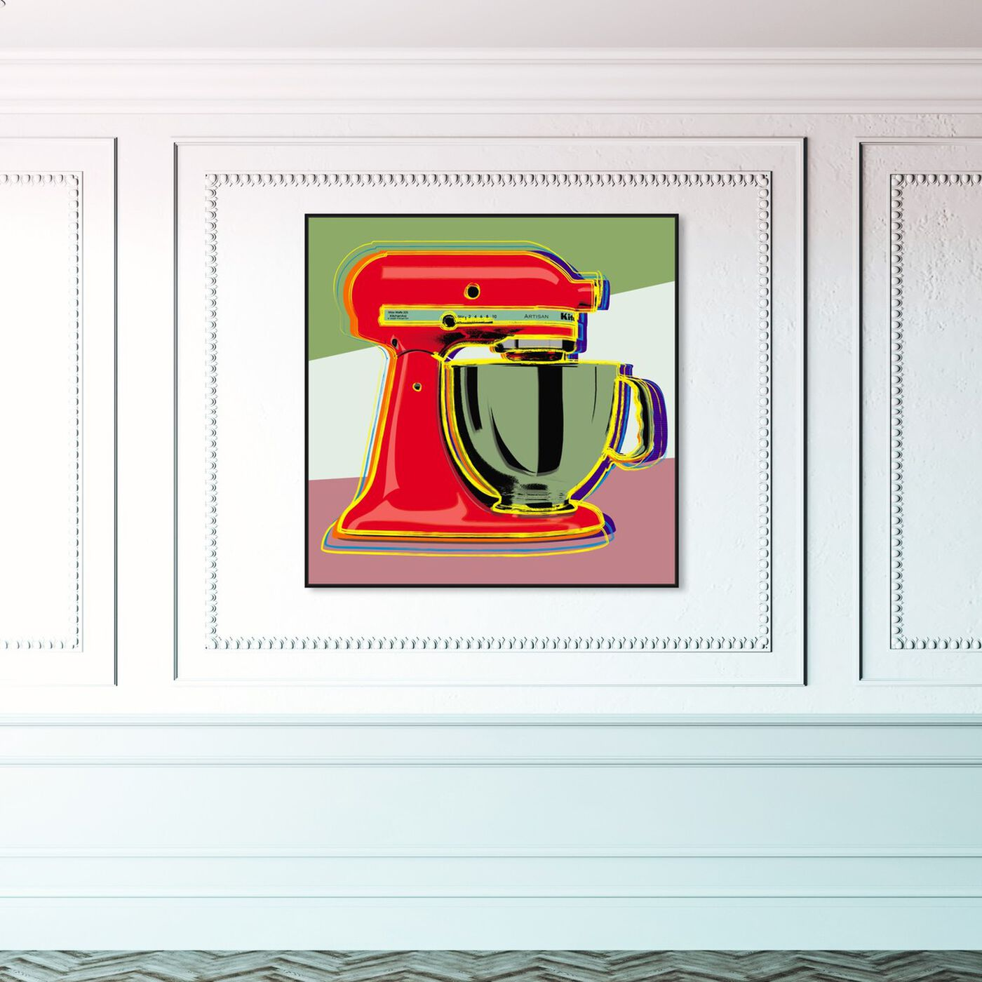 Hanging view of Pastel Blender featuring food and cuisine and baking essentials art.