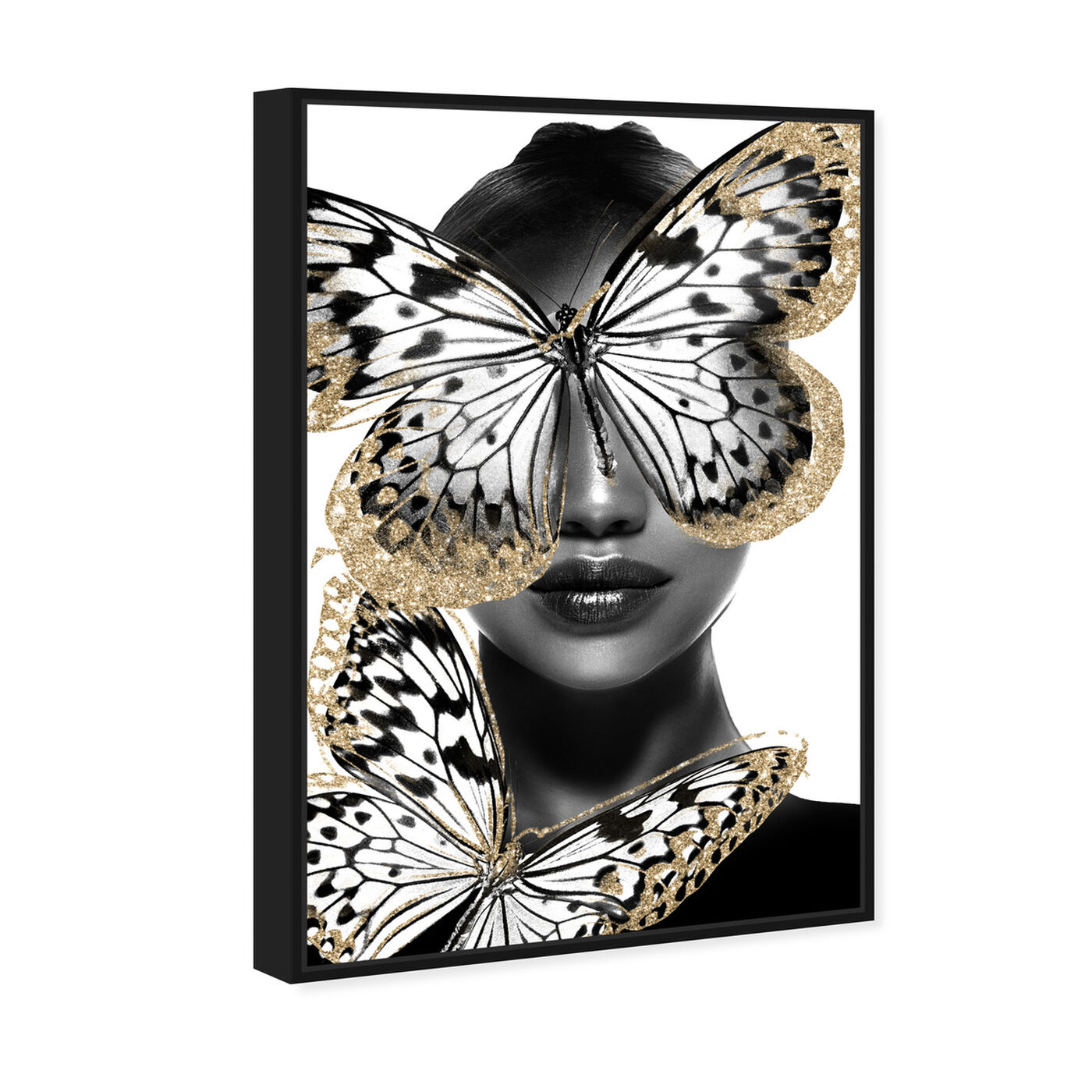 Angled view of Royalty of Wings featuring fashion and glam and portraits art.