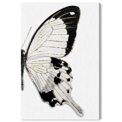 Monochrome Glitter Butterfly I