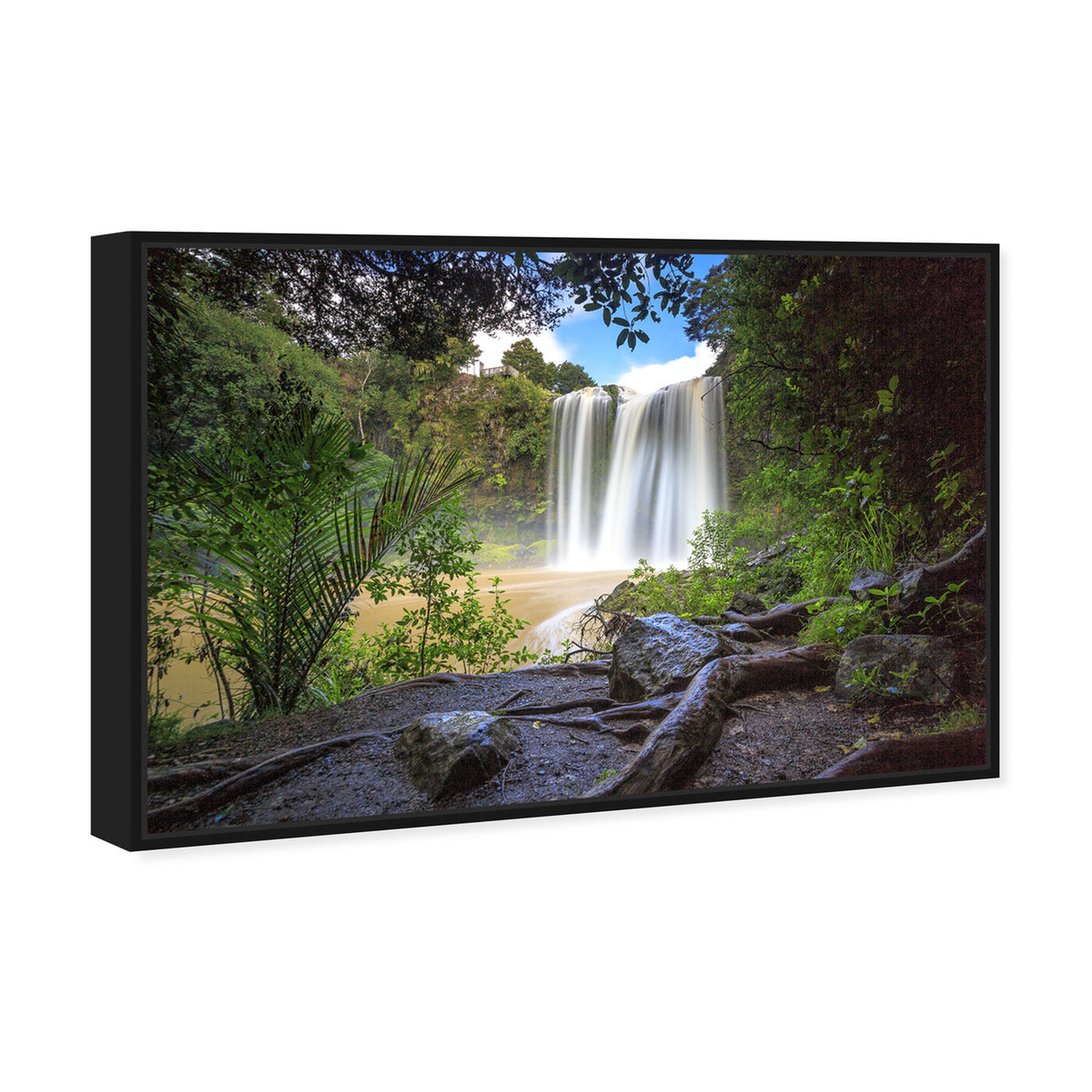 Angled view of Curro Cardenal - Rainforest featuring nature and landscape and forest landscapes art.