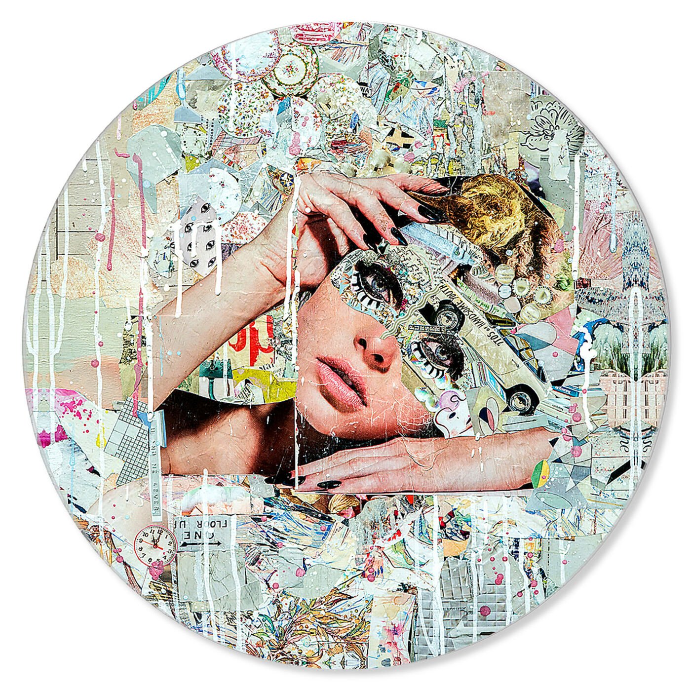 Front view of Katy Hirschfeld - Handsome Youths Circle Art featuring fashion and glam and portraits art.