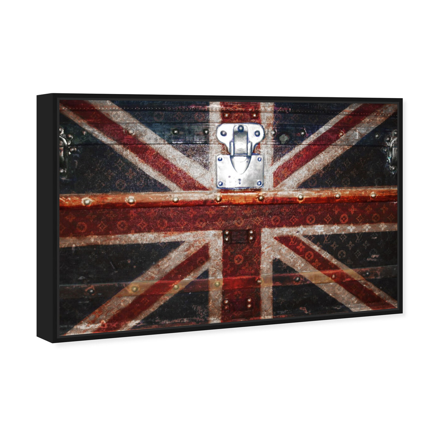 Angled view of Take Me To The UK featuring fashion and glam and travel essentials art.