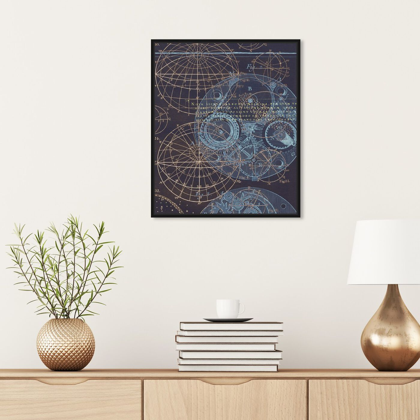 Hanging view of Bores Sky featuring astronomy and space and solar system art.