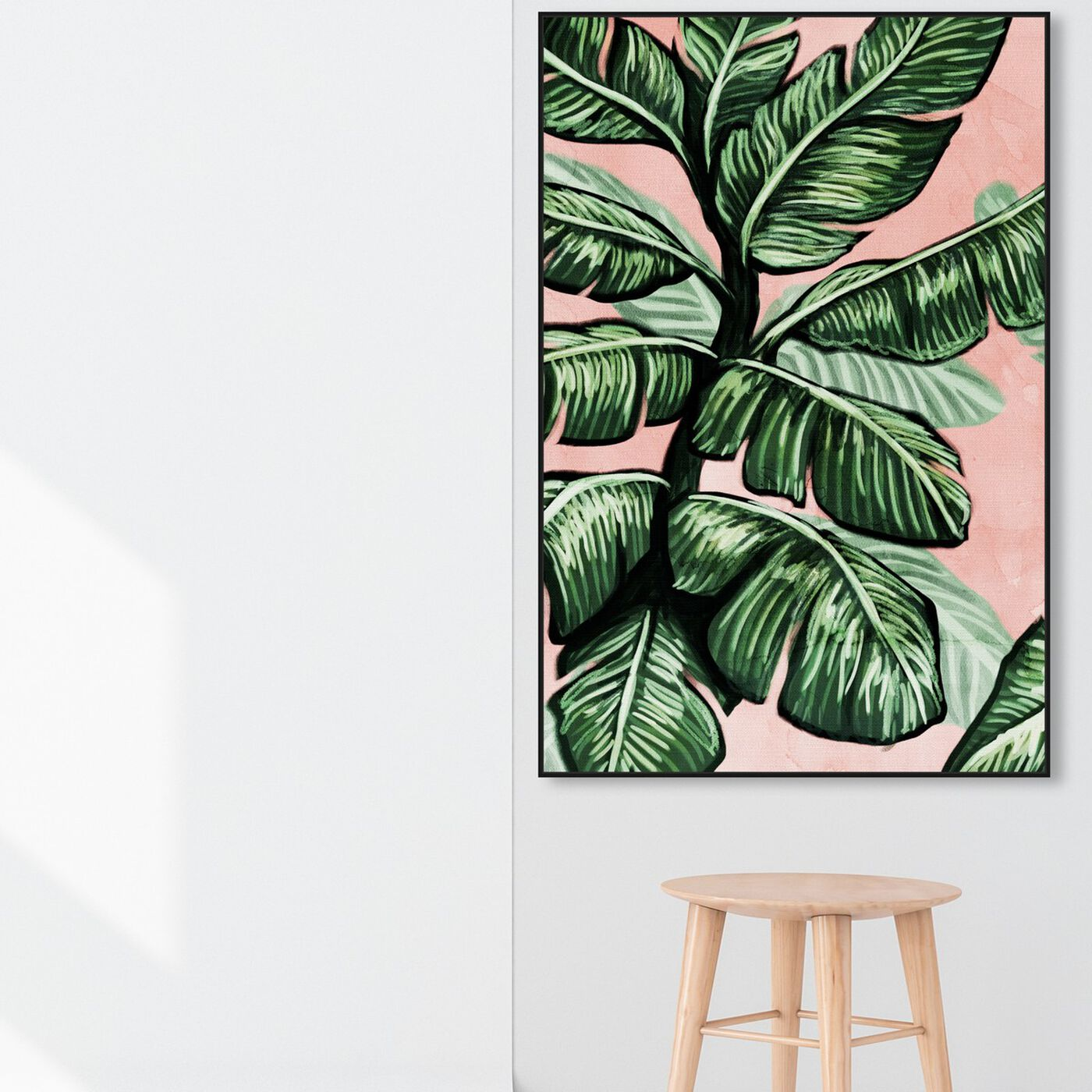 Hanging view of Blush Toned Leaves featuring floral and botanical and botanicals art.