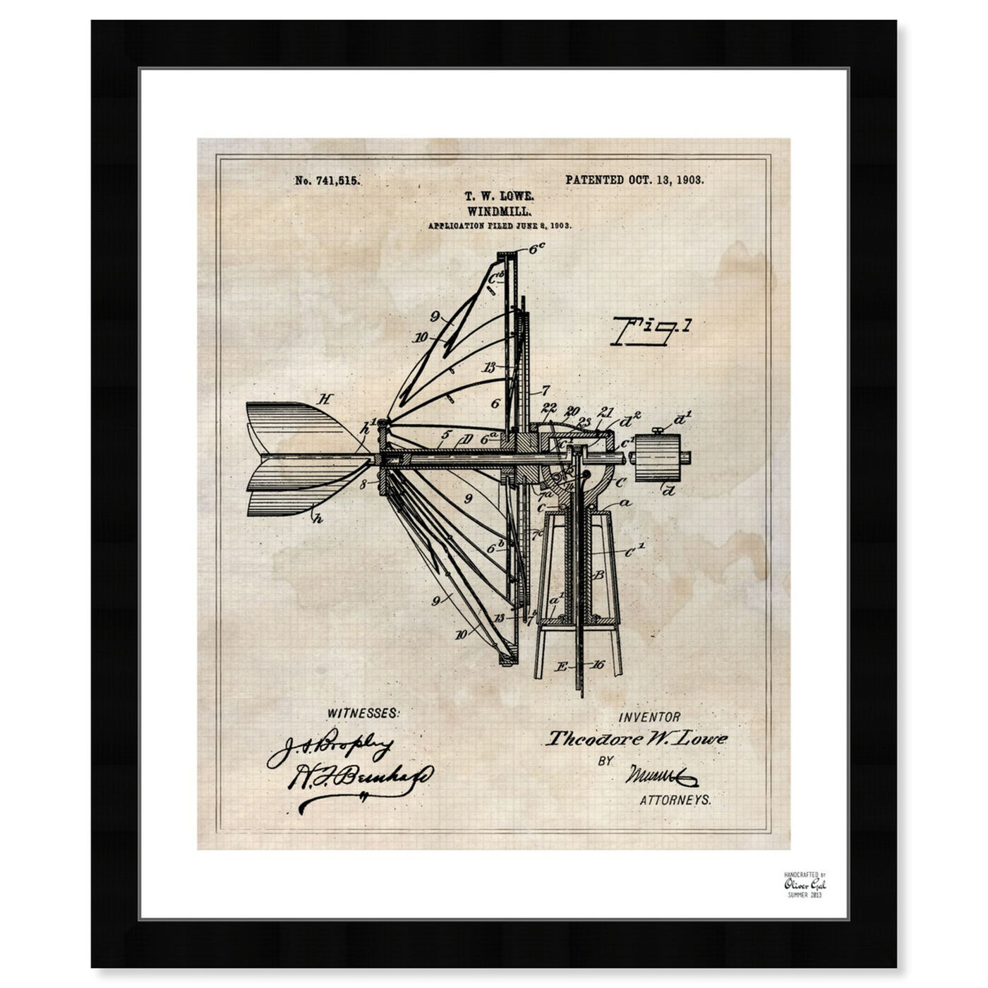 Front view of Windmill 1903 featuring architecture and buildings and structures art.