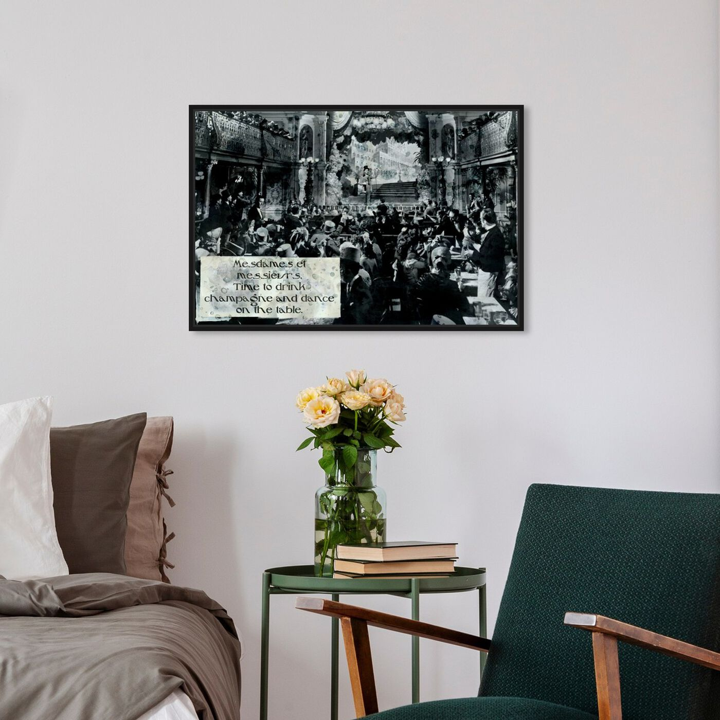 Hanging view of Time to Drink featuring advertising and posters art.