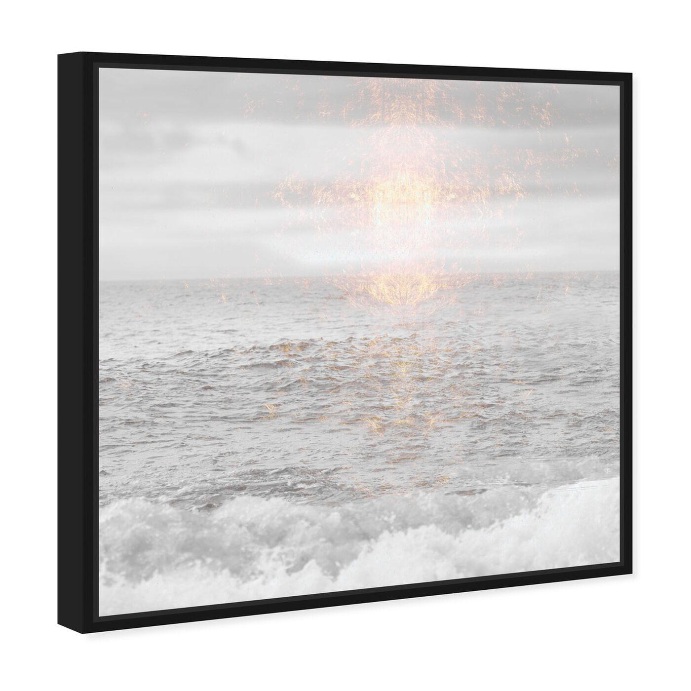 Angled view of Grey Sea featuring nautical and coastal and coastal landscapes art.