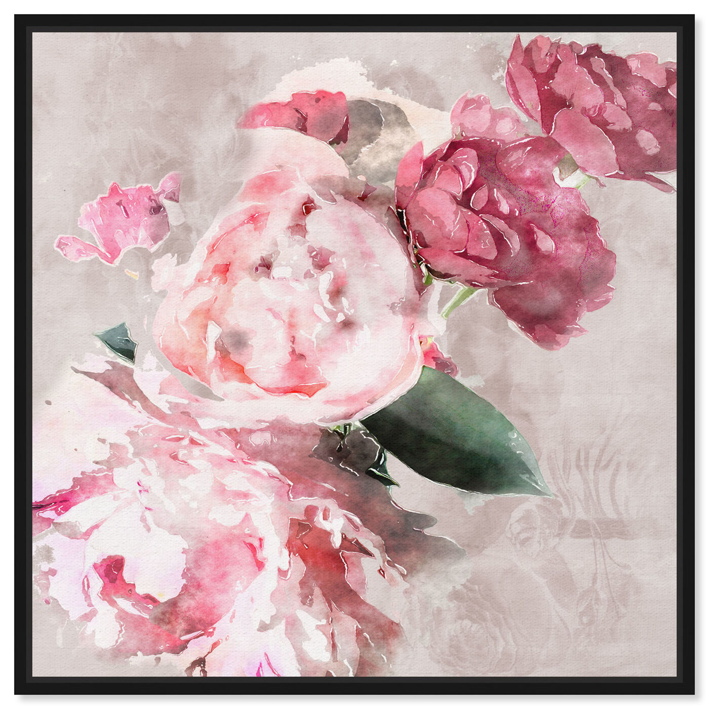 Front view of Soft Romantic featuring floral and botanical and florals art.