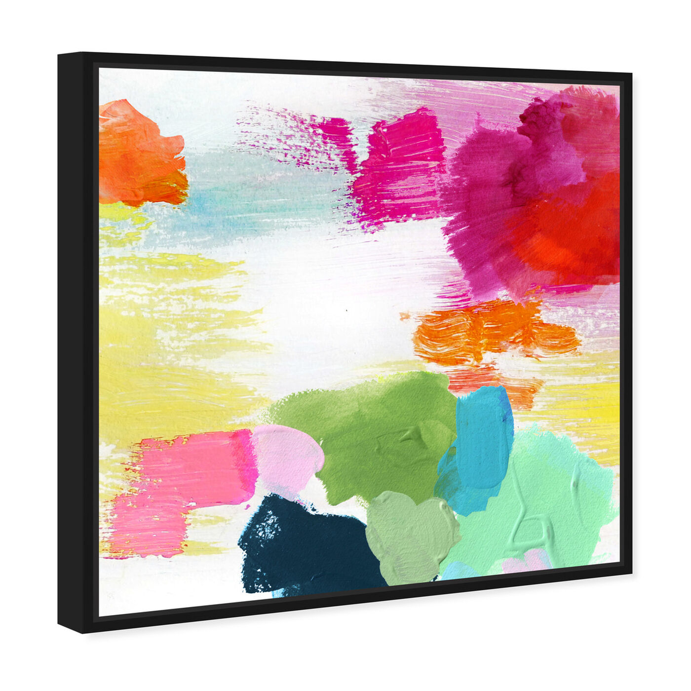 Angled view of Full of Joy featuring abstract and paint art.