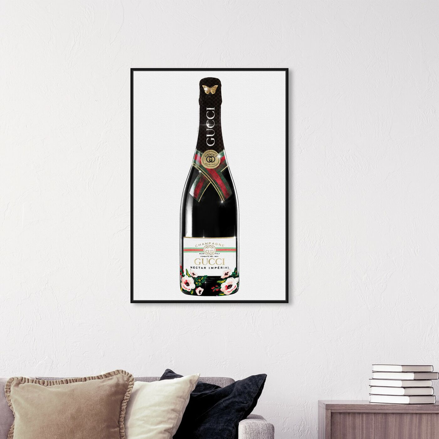 Hanging view of Italian Mod Champagne featuring fashion and glam and lifestyle art.