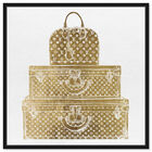 Front view of Royal Bag and Luggage Gold featuring fashion and glam and travel essentials art. image number null