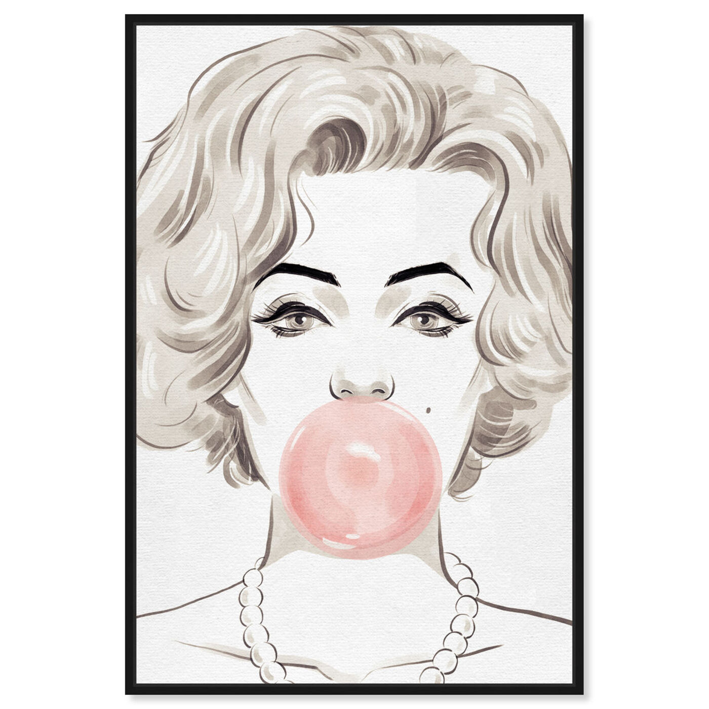 Front view of Bubblegum Beauty featuring fashion and glam and portraits art.