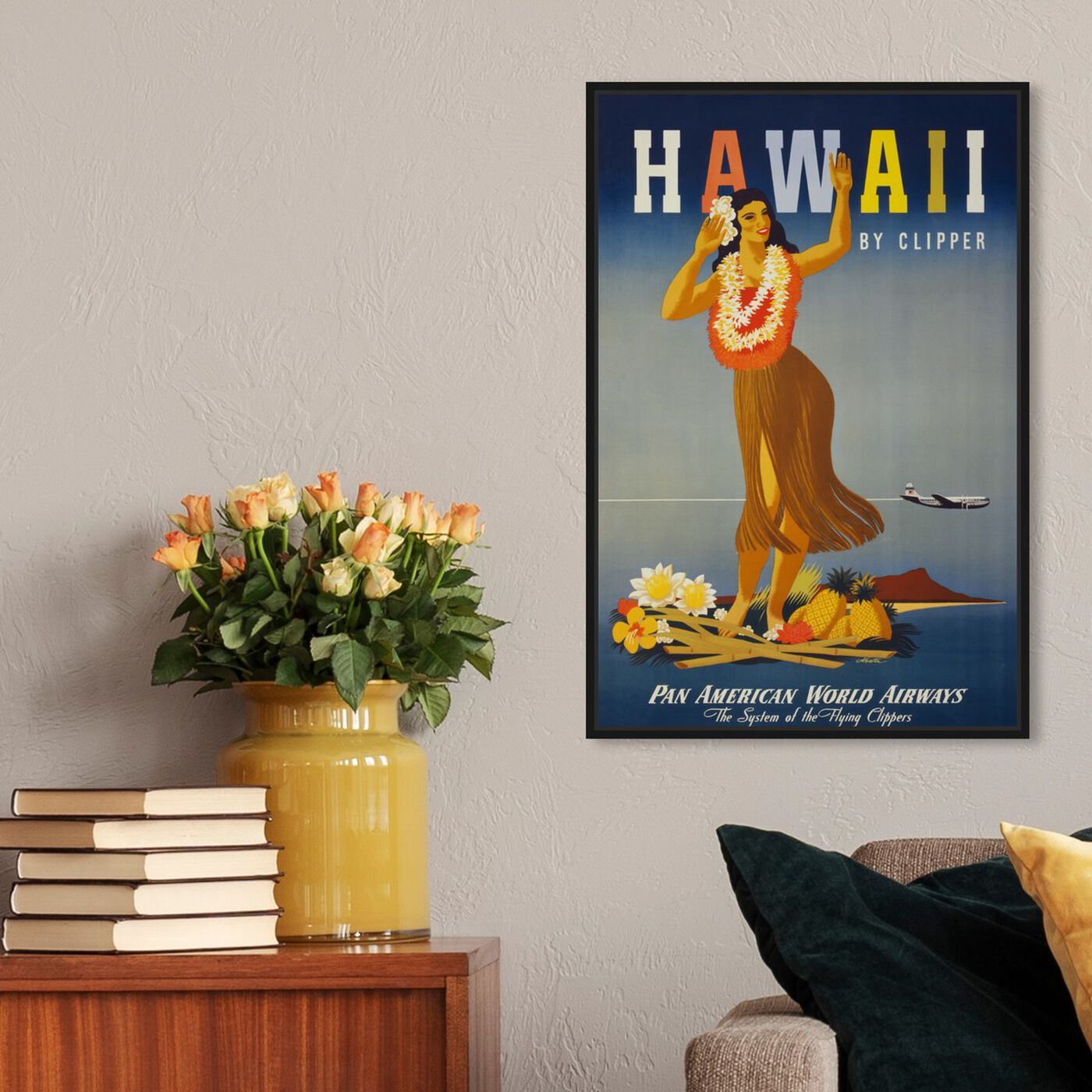 Hanging view of Hawaii featuring cities and skylines and united states cities art.