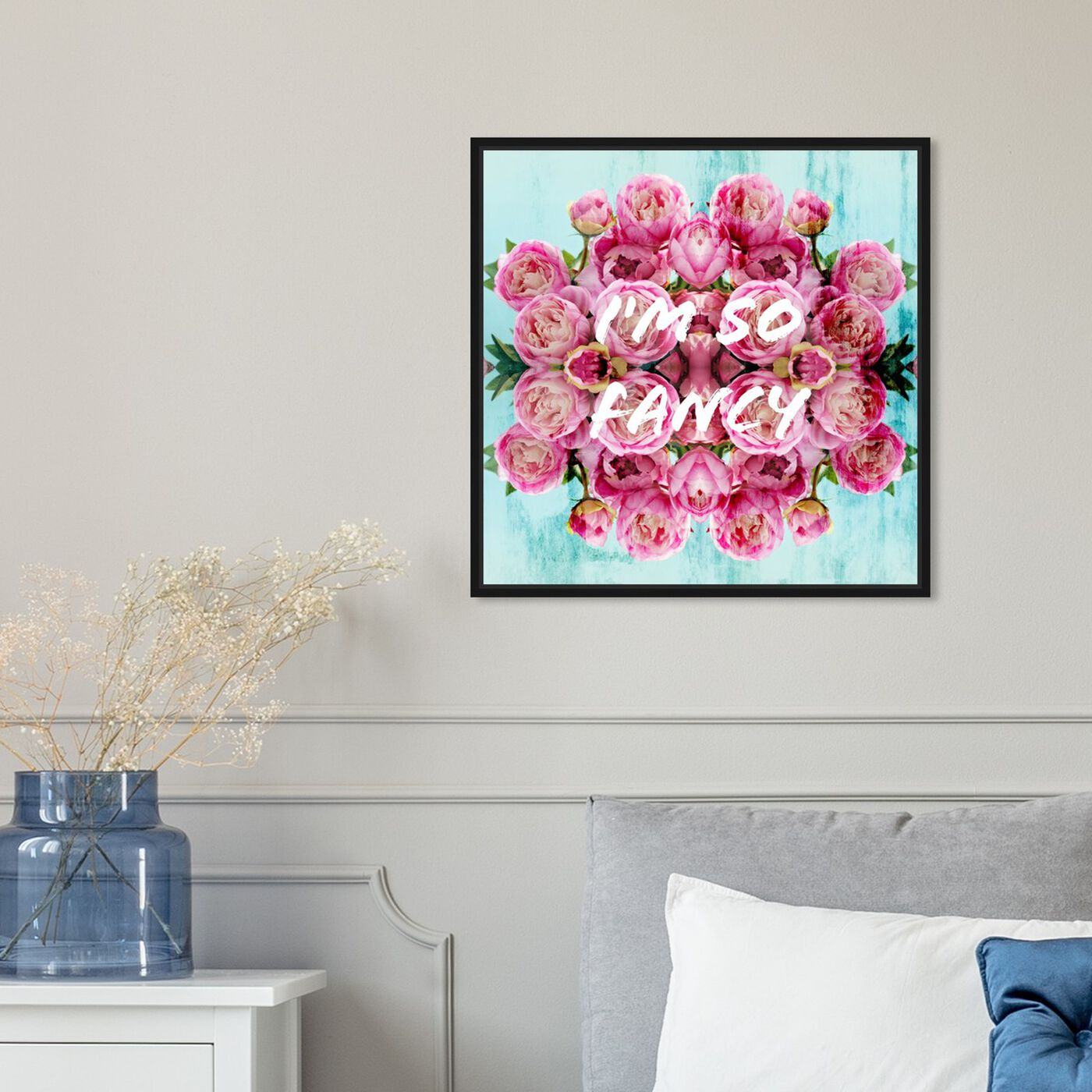 Hanging view of So Fancy I featuring typography and quotes and fashion quotes and sayings art.