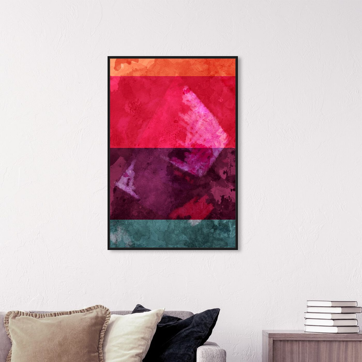 Hanging view of You Make Me featuring abstract and paint art.