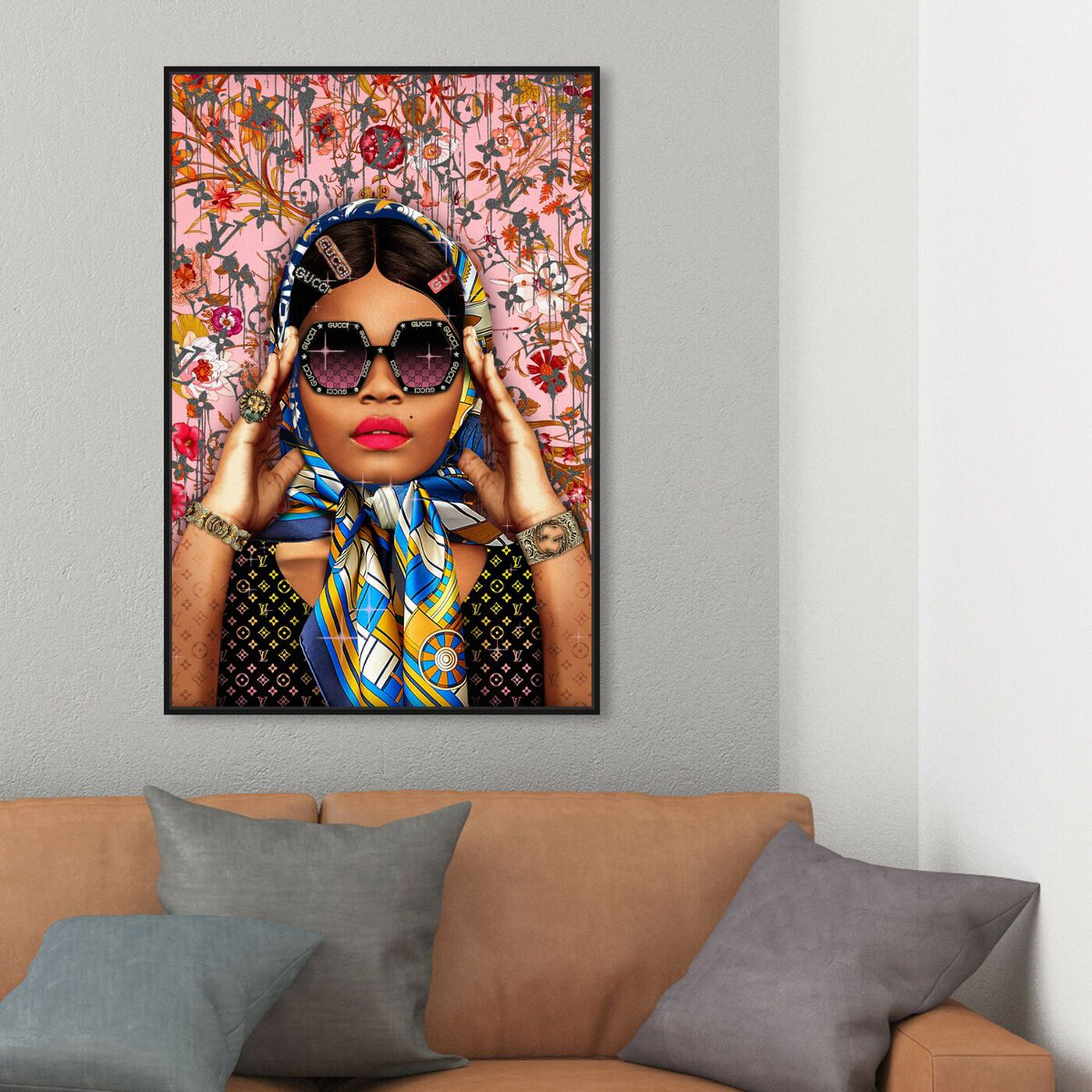 Hanging view of Snap a picture featuring fashion and glam and portraits art.