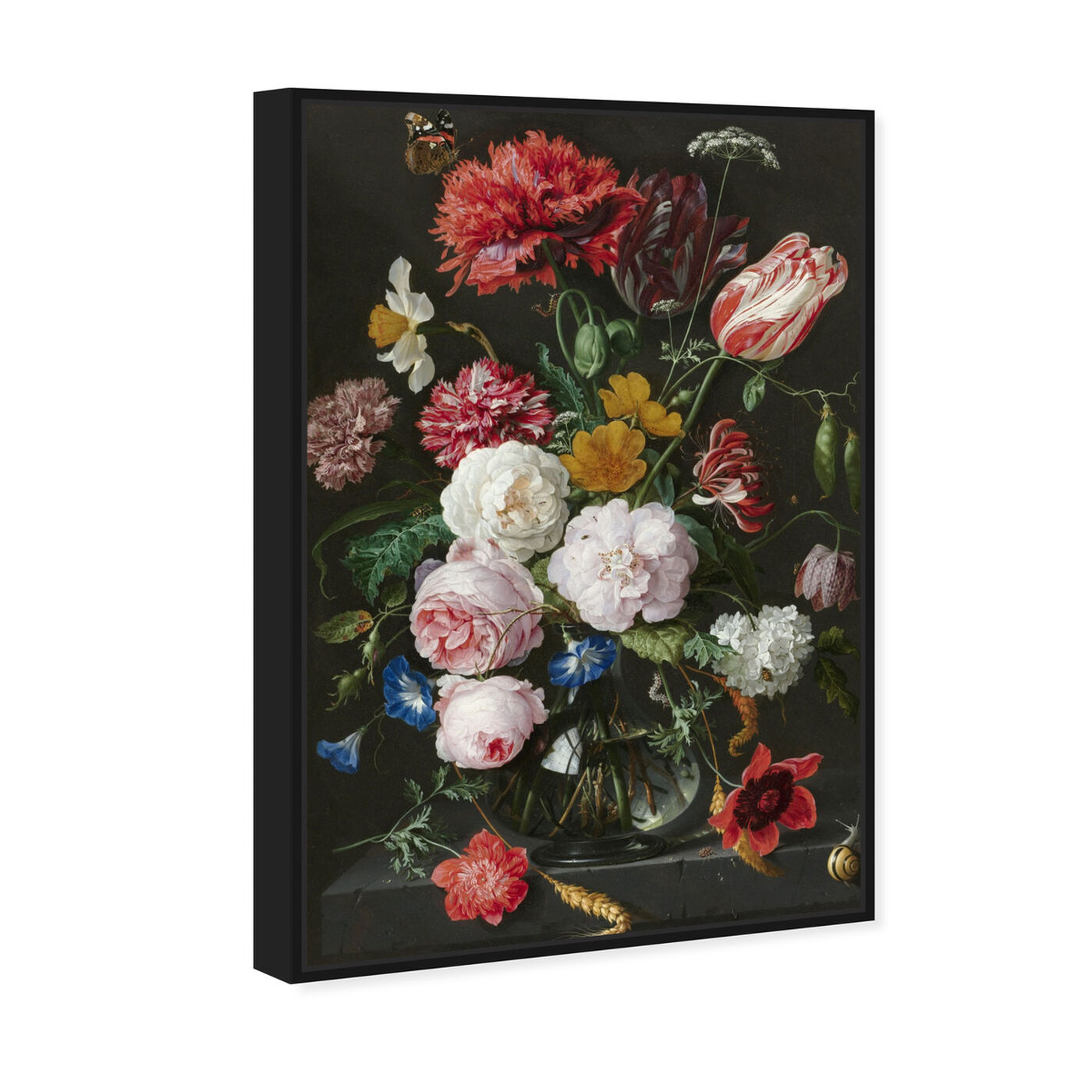 Angled view of Flower Arrangement XIV - The Art Cabinet featuring floral and botanical and florals art.