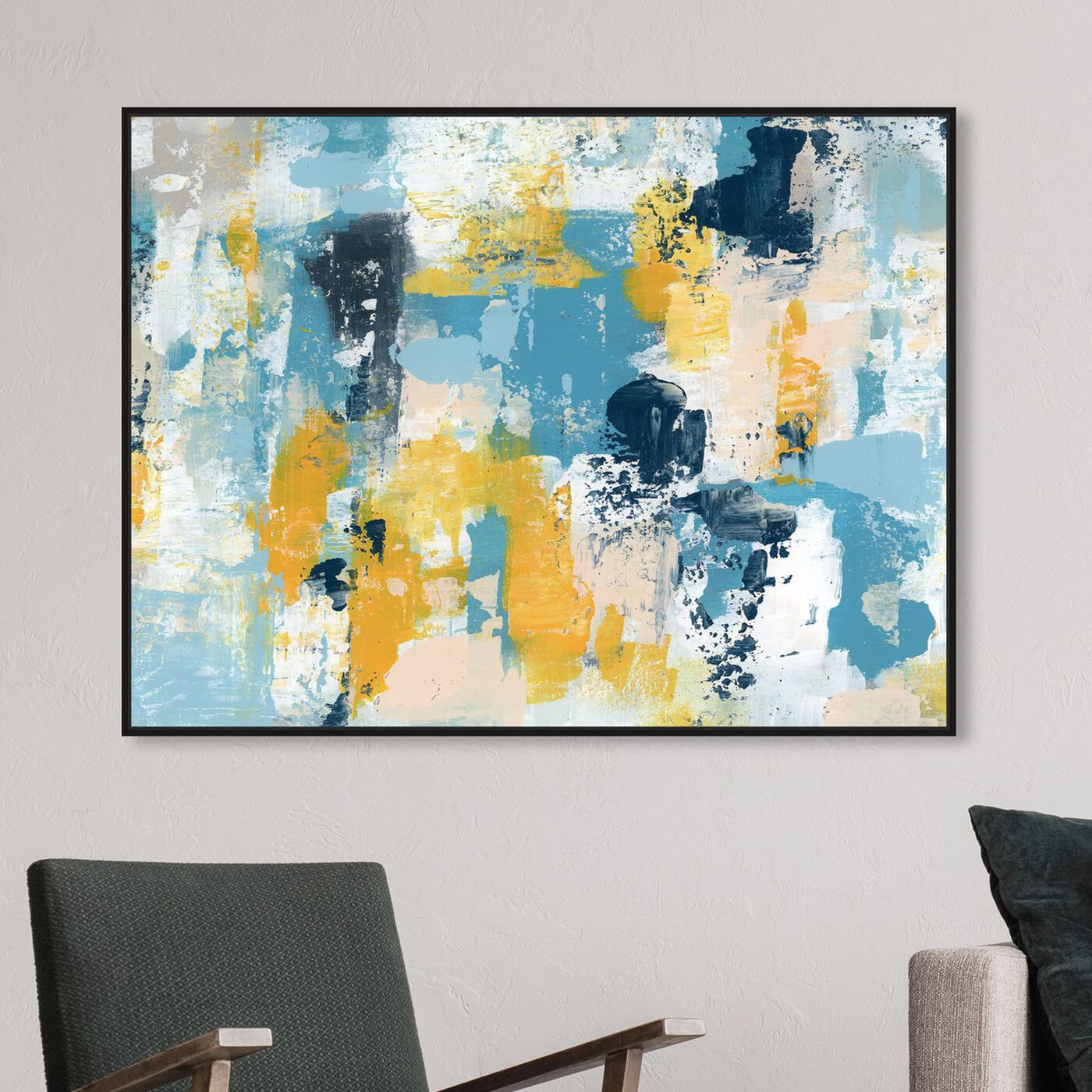 Hanging view of Calling The Sun featuring abstract and paint art.