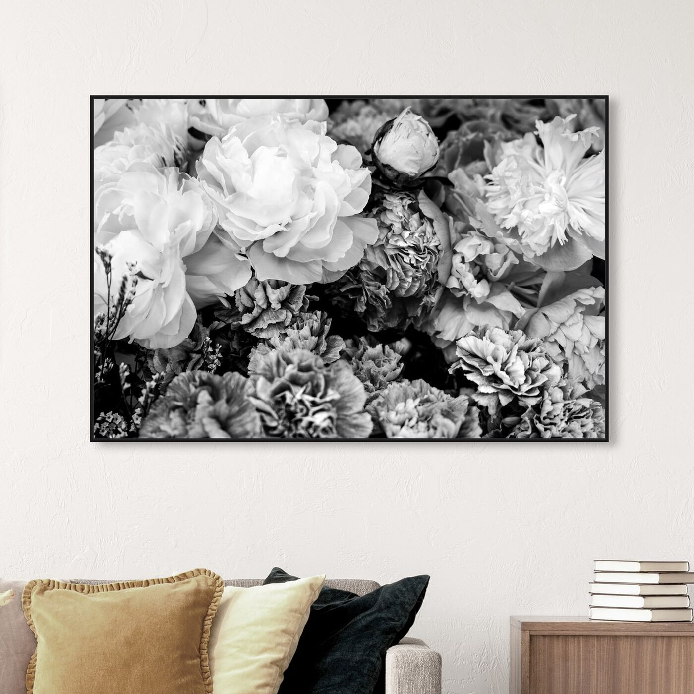 Hanging view of Dark Flora Encore featuring floral and botanical and gardens art.
