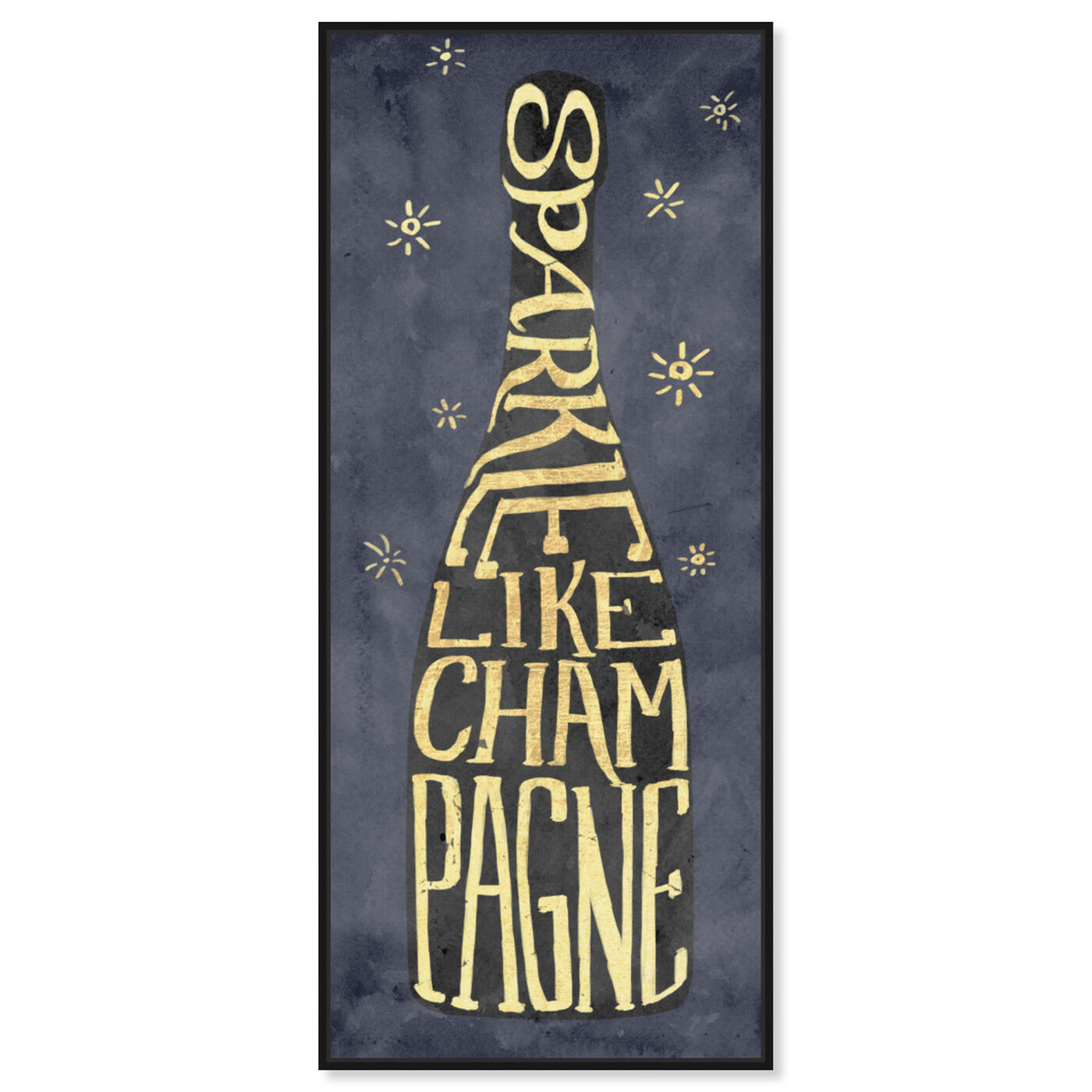 Front view of Sparkle Like Champagne featuring drinks and spirits and champagne art.