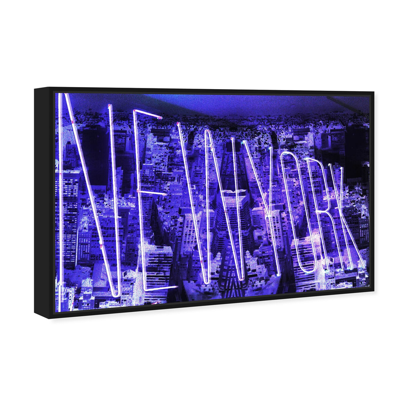 Angled view of New York Neon featuring cities and skylines and united states cities art.