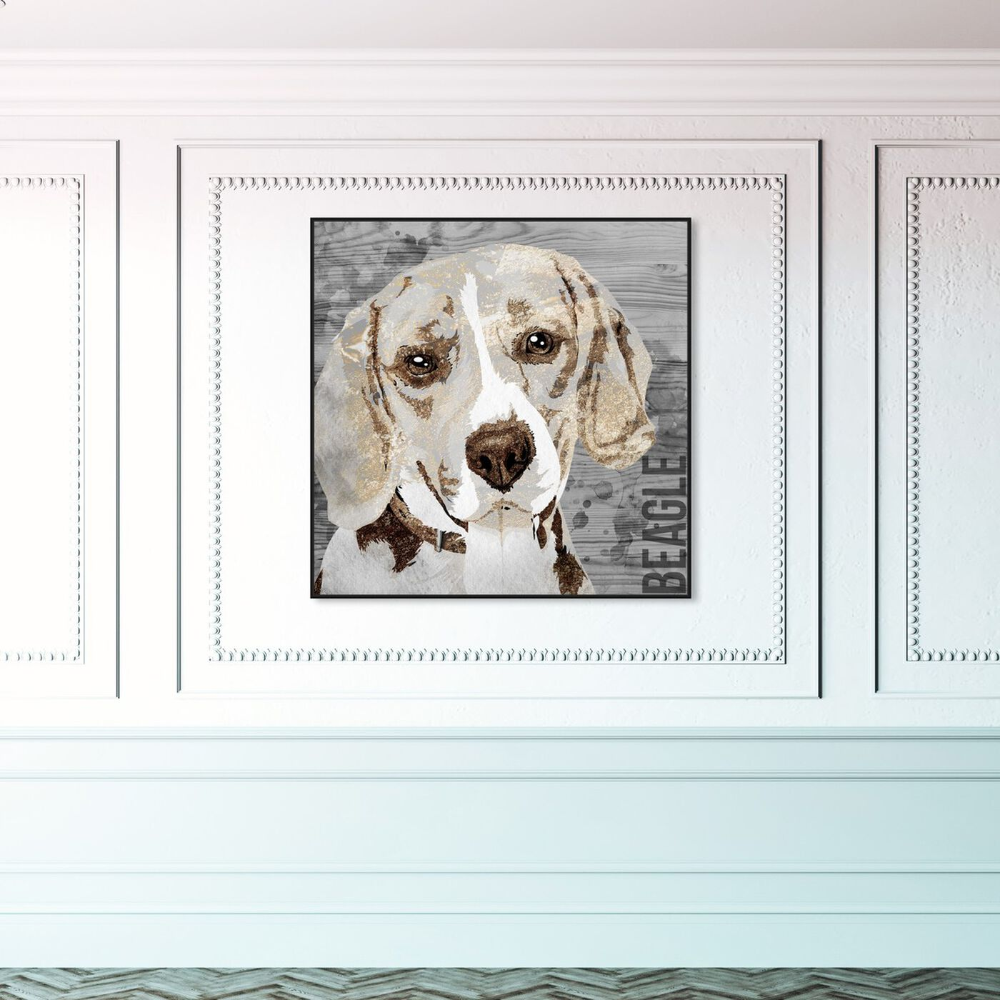 Hanging view of Love My Beagle featuring animals and dogs and puppies art.