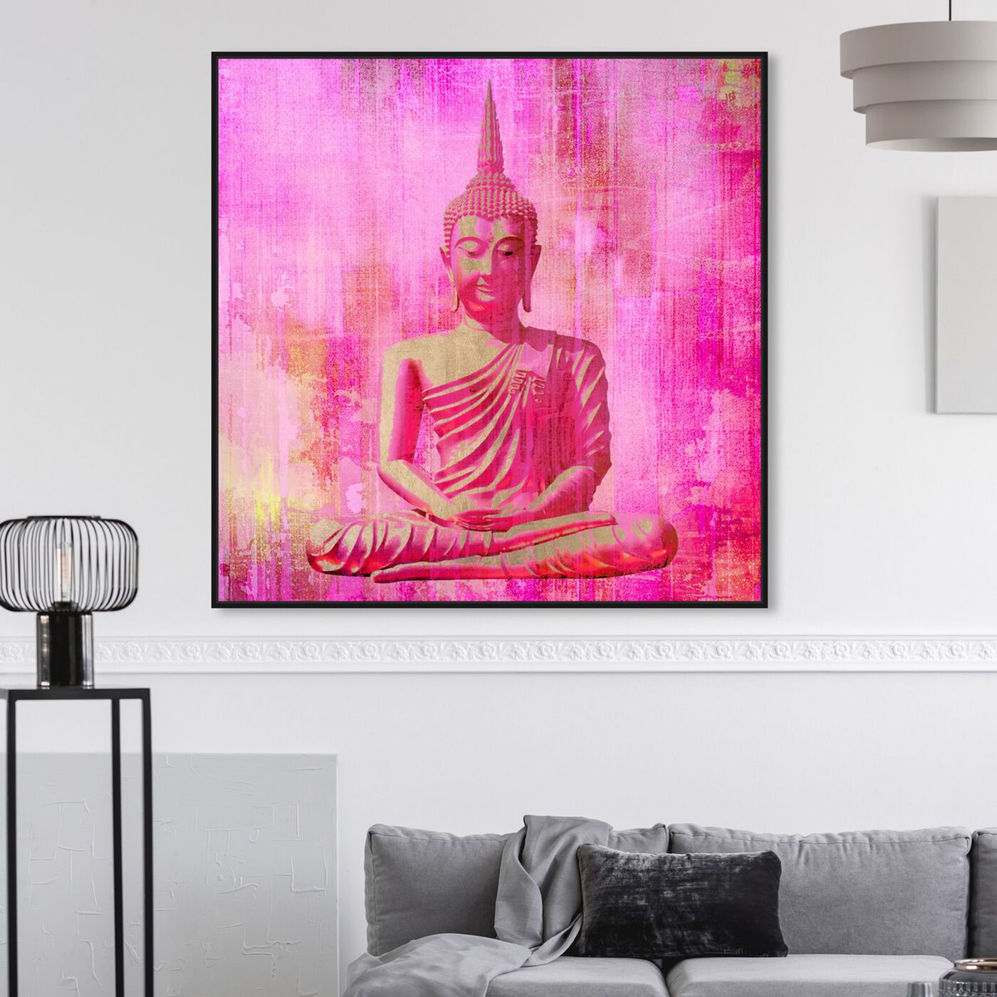 Hanging view of Buddha Pink featuring spiritual and religious and religion art.