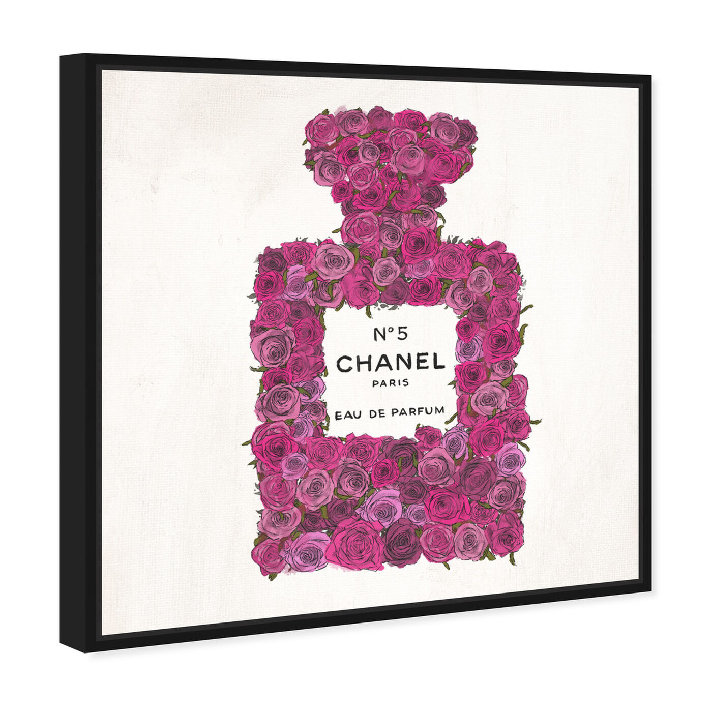 Angled view of Number 5 Rose featuring fashion and glam and perfumes art.