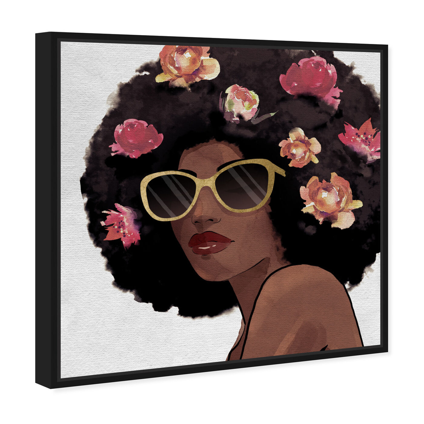 Angled view of Flowers to Inspire Shades featuring fashion and glam and portraits art.