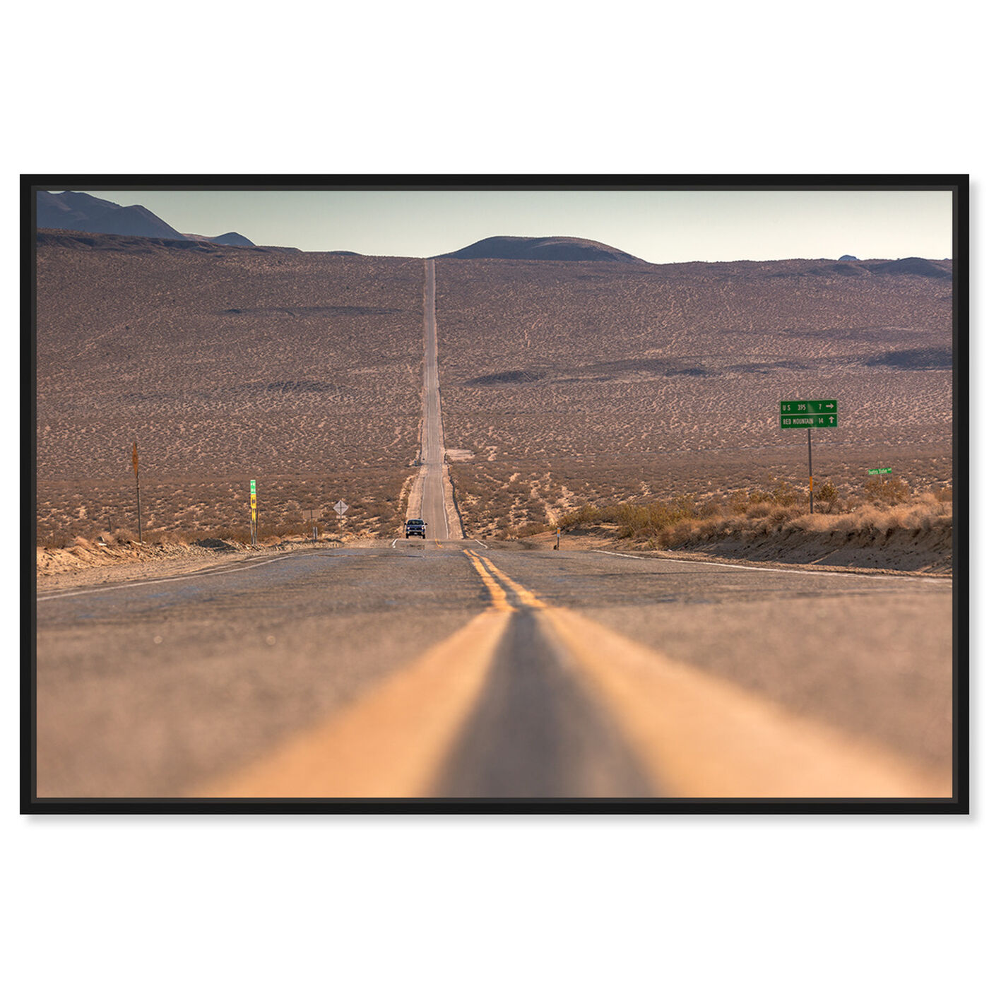 Front view of Curro Cardenal - American Road featuring nature and landscape and desert landscapes art.