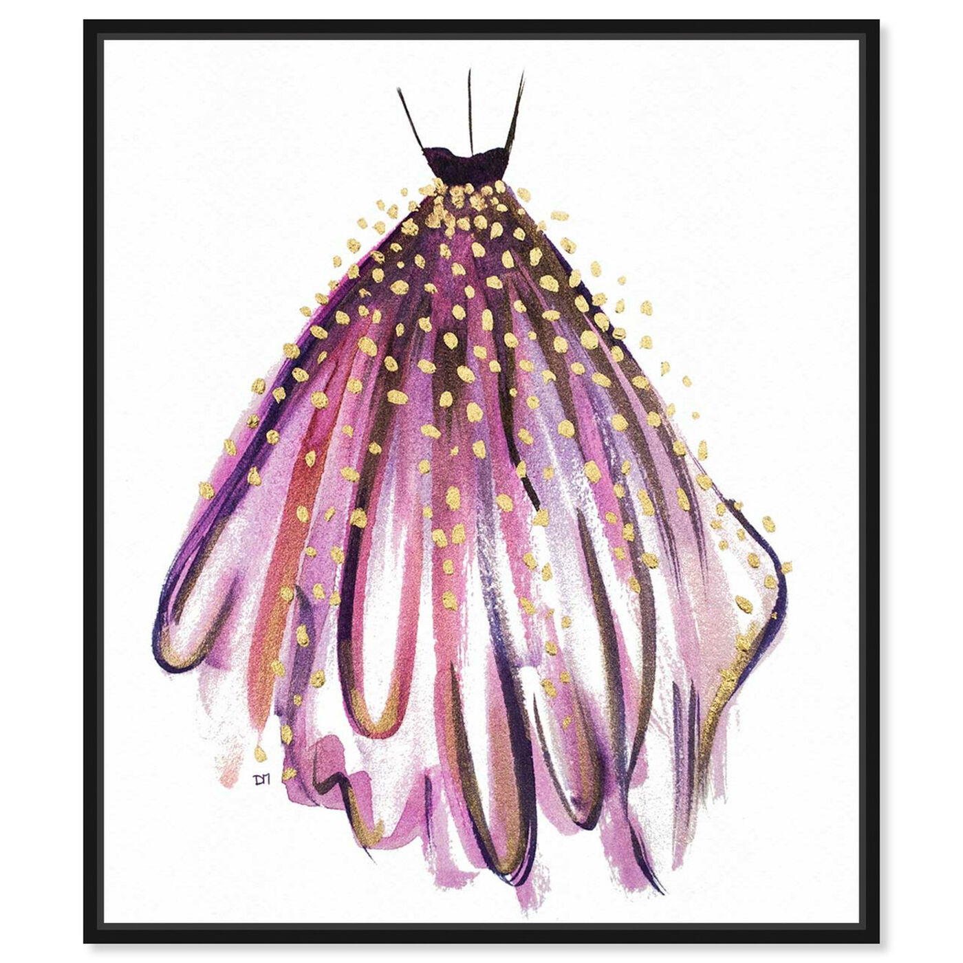 Front view of Purple Magic featuring fashion and glam and dress art.