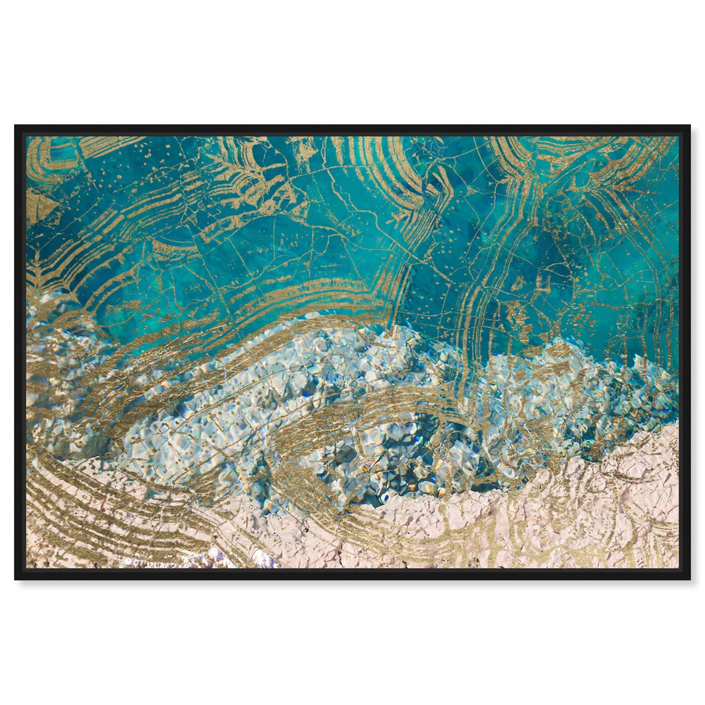 Front view of Salt Water featuring abstract and textures art.