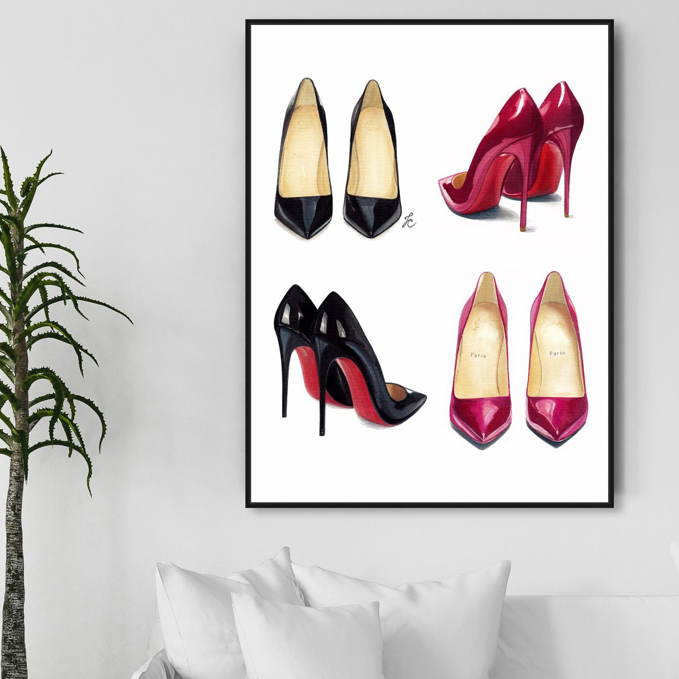 Hanging view of Doll Memories - My Shoe Armoire featuring fashion and glam and shoes art.