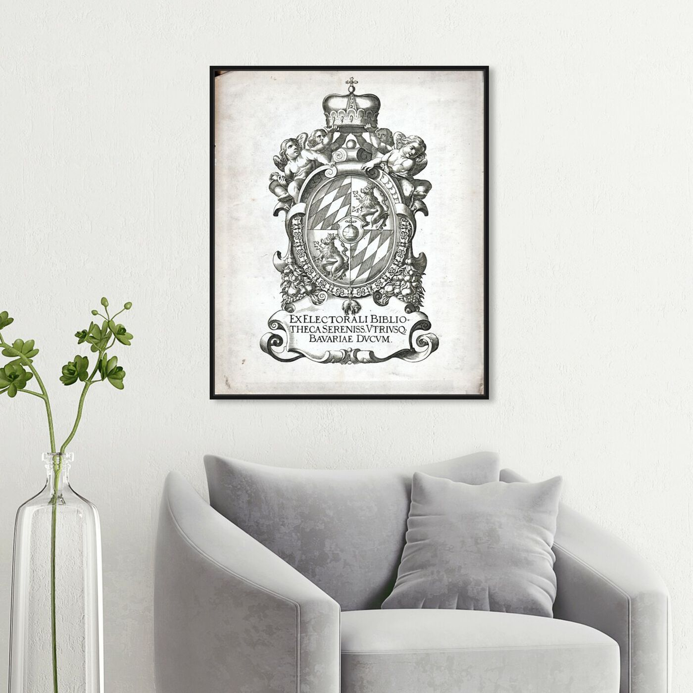 Hanging view of Armorial Engravings I featuring world and countries and european cultures art.