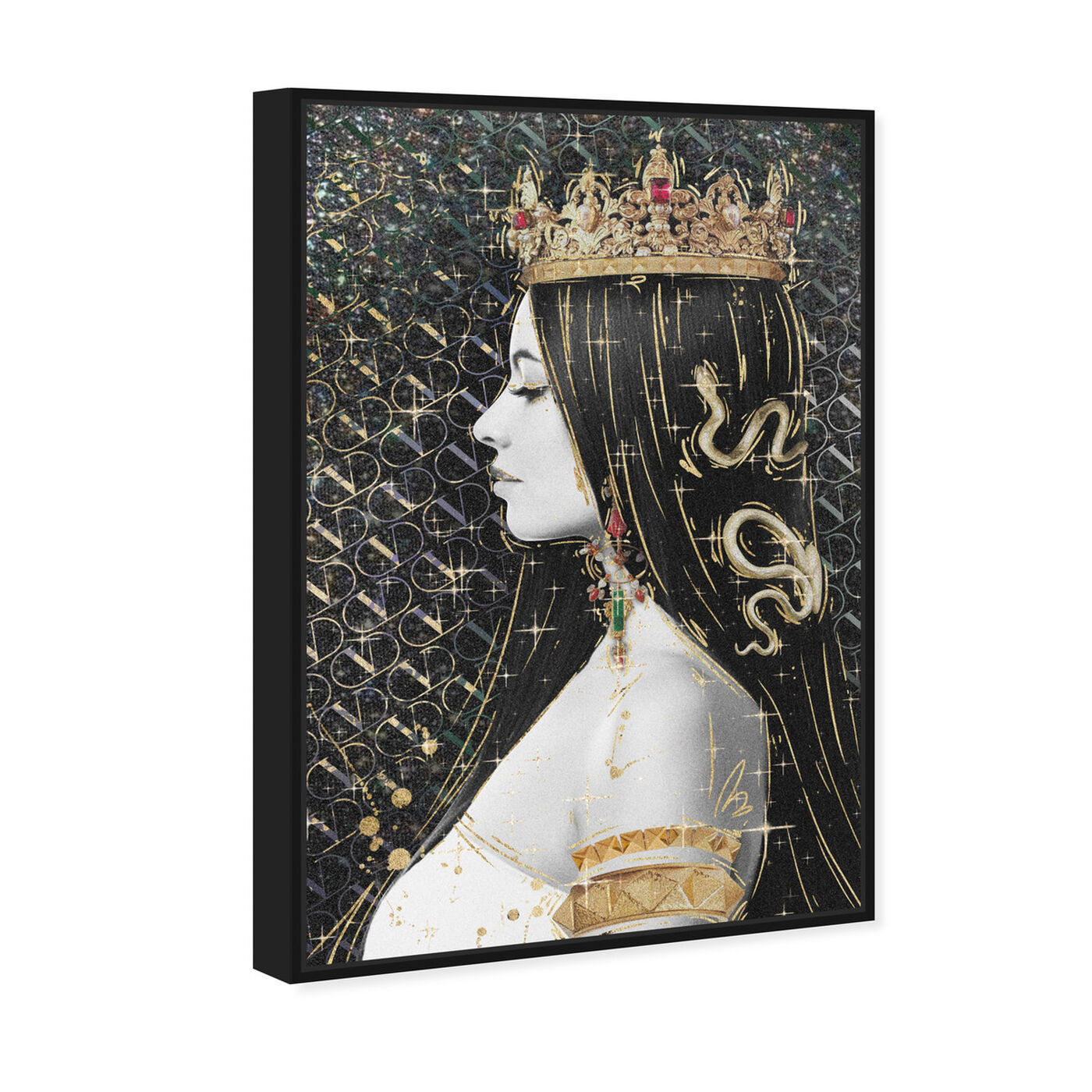 Angled view of Crown and Young featuring fashion and glam and jewelry art.