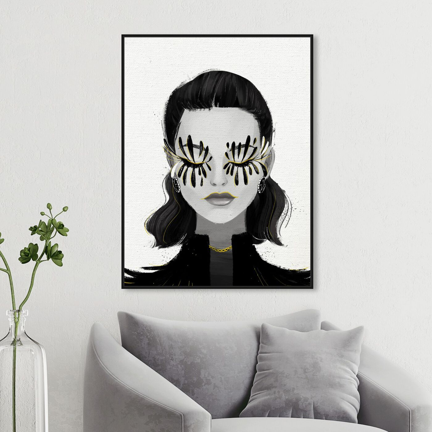 Hanging view of Eyelash Petals Girls featuring fashion and glam and portraits art.