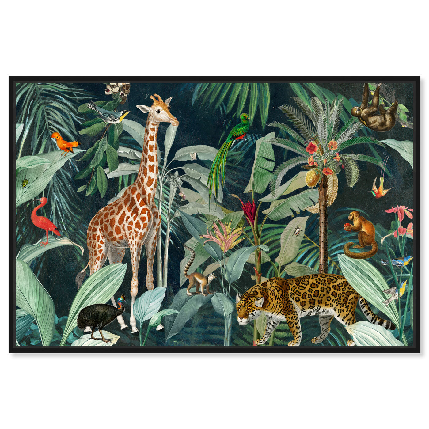 Front view of Jungle Reves featuring animals and zoo and wild animals art.