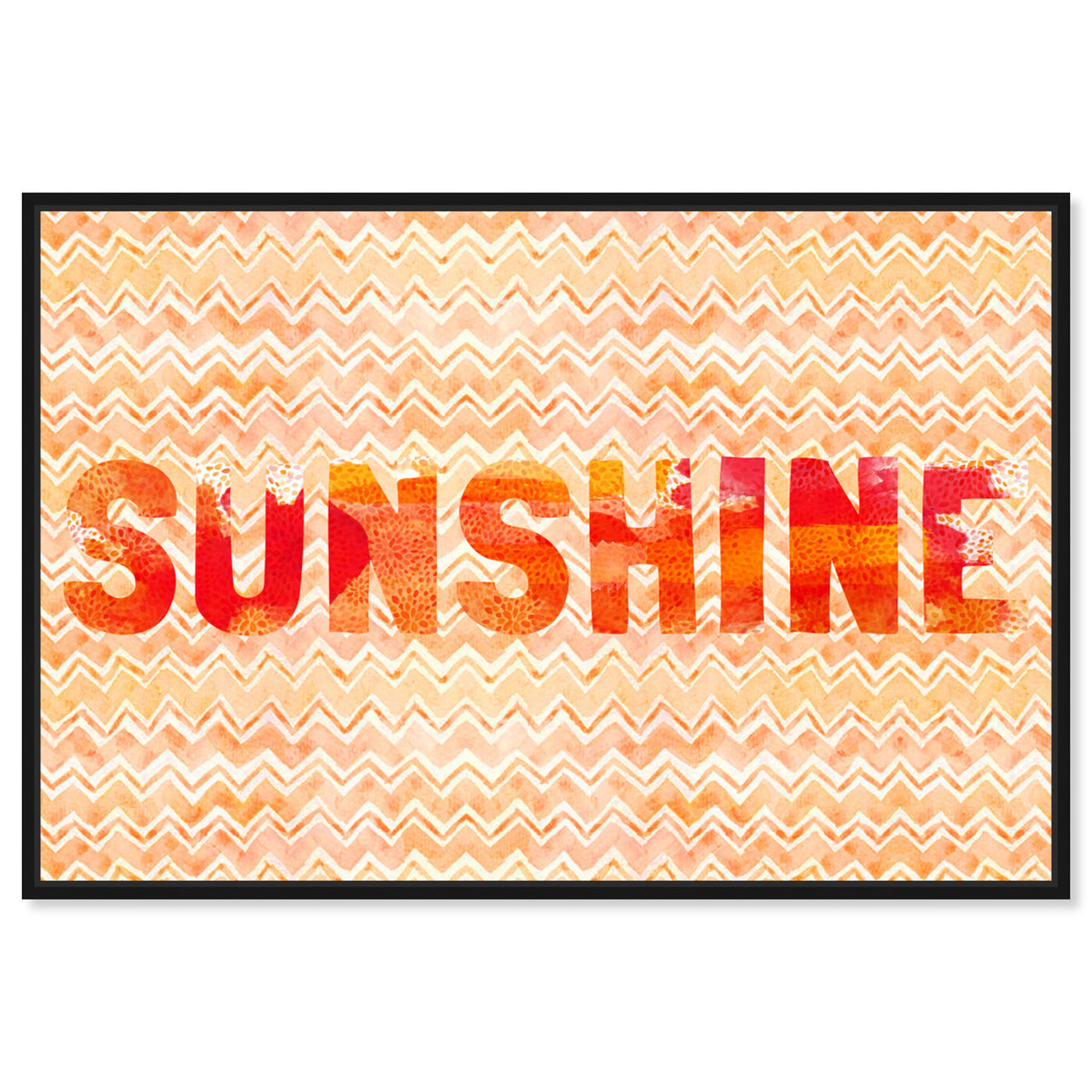 Front view of Sunshine featuring typography and quotes and beauty quotes and sayings art.