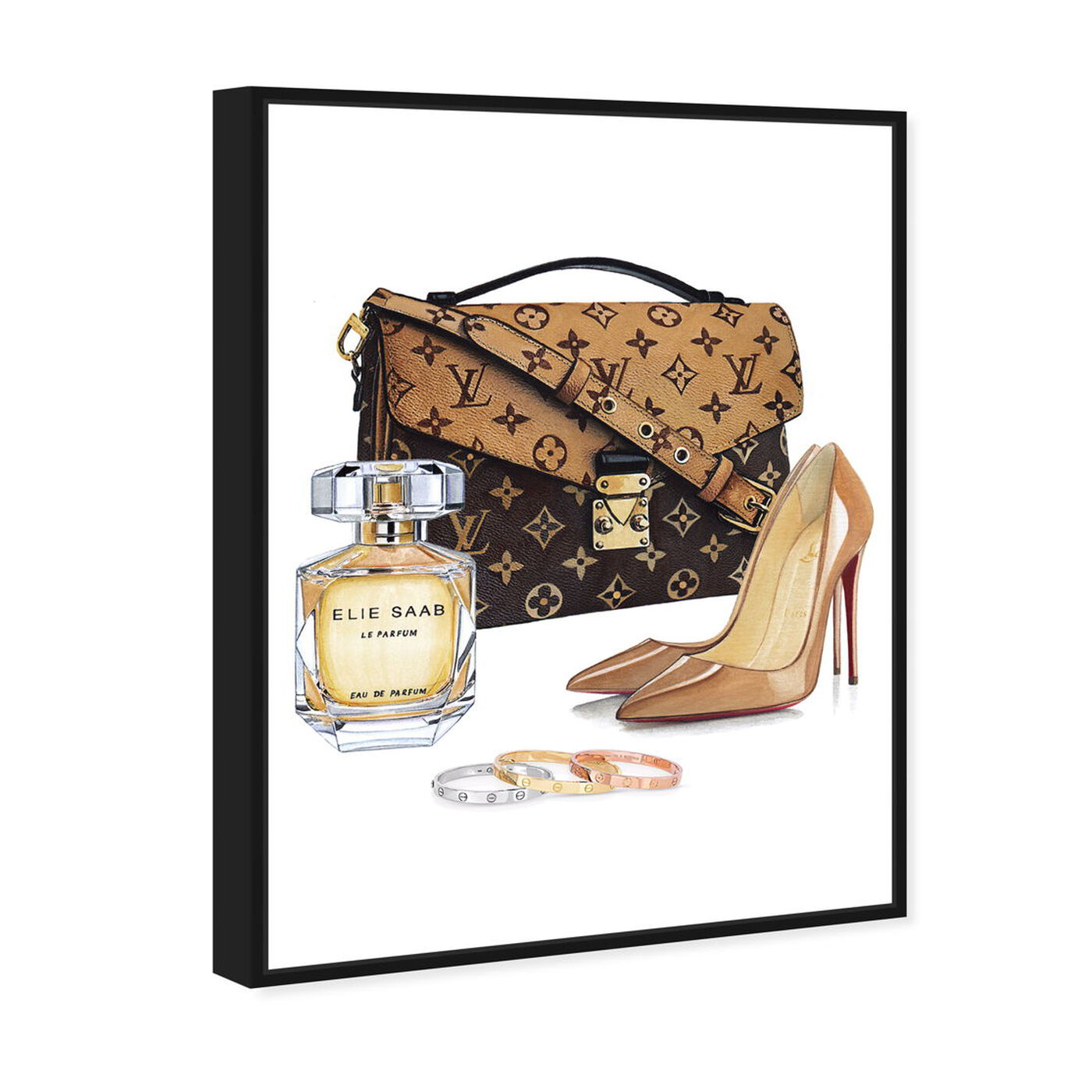 Angled view of Doll Memories-Luxury Shoes NUDE featuring fashion and glam and shoes art.