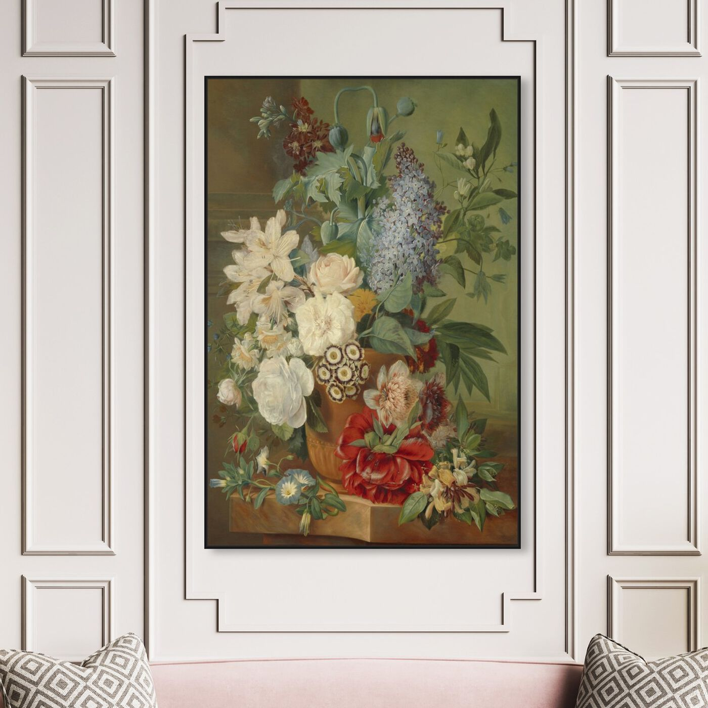 Hanging view of Flower Arrangement VIII - The Art Cabinet featuring classic and figurative and french décor art.