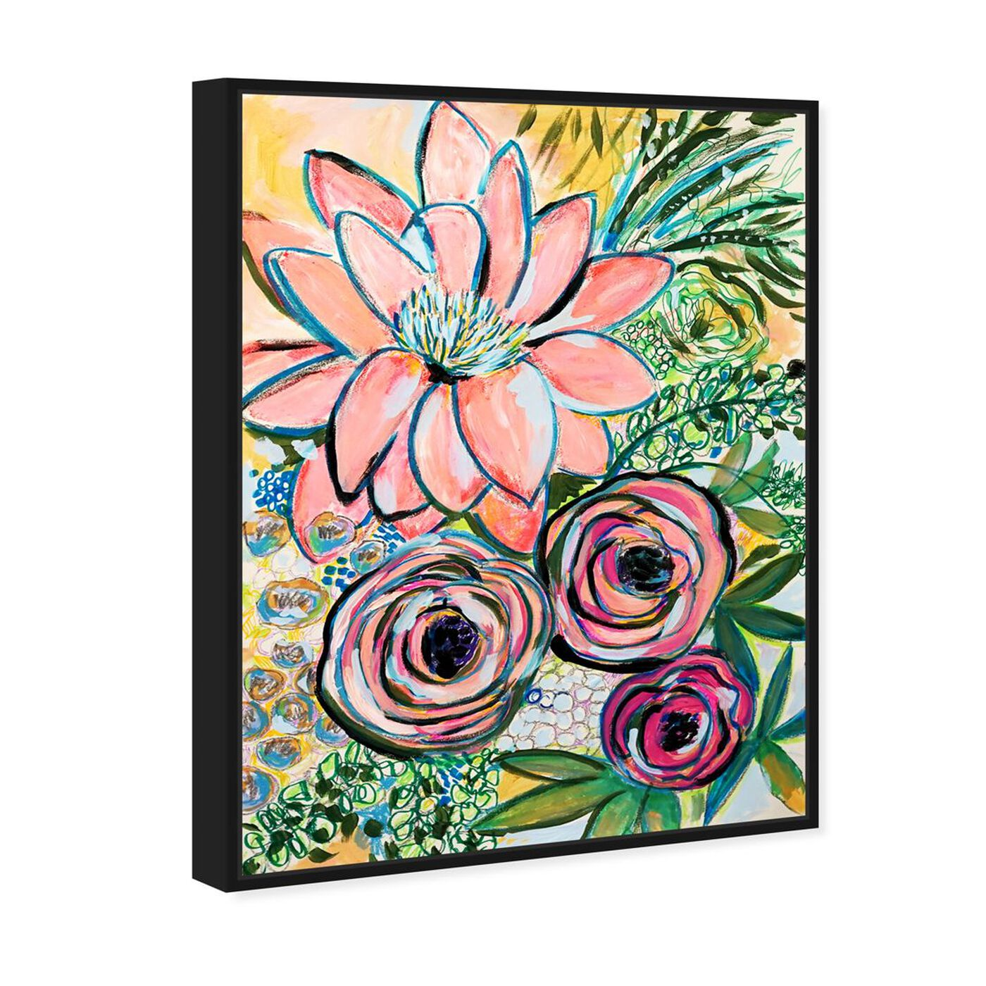 Angled view of Rosalina - Peonies Party of Two featuring floral and botanical and florals art.