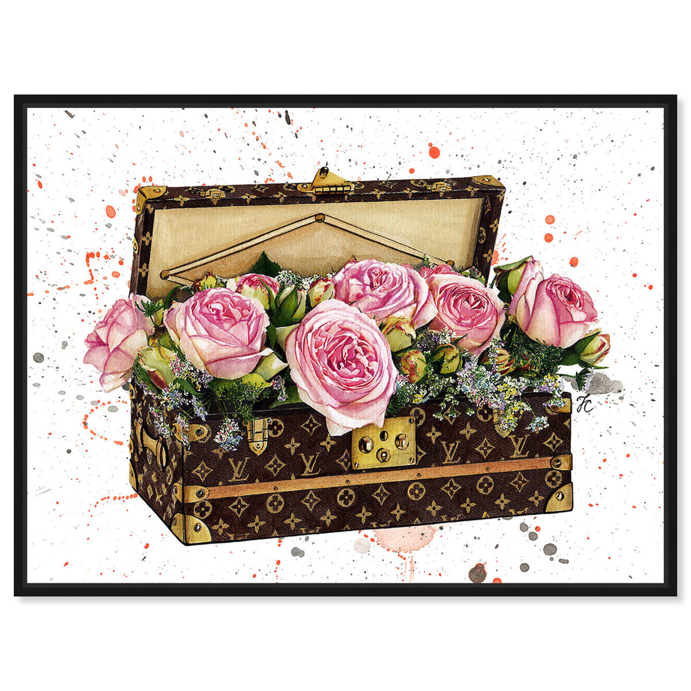 Front view of Doll Memories - Trunk of Roses featuring fashion and glam and travel essentials art.