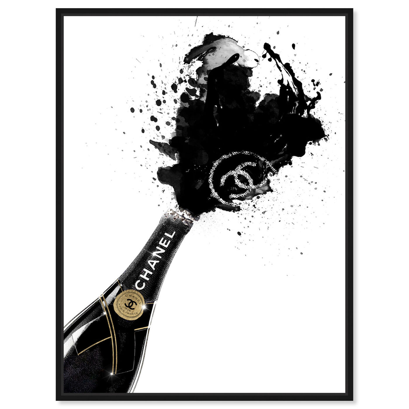 Front view of Noir Champagne featuring fashion and glam and lifestyle art.