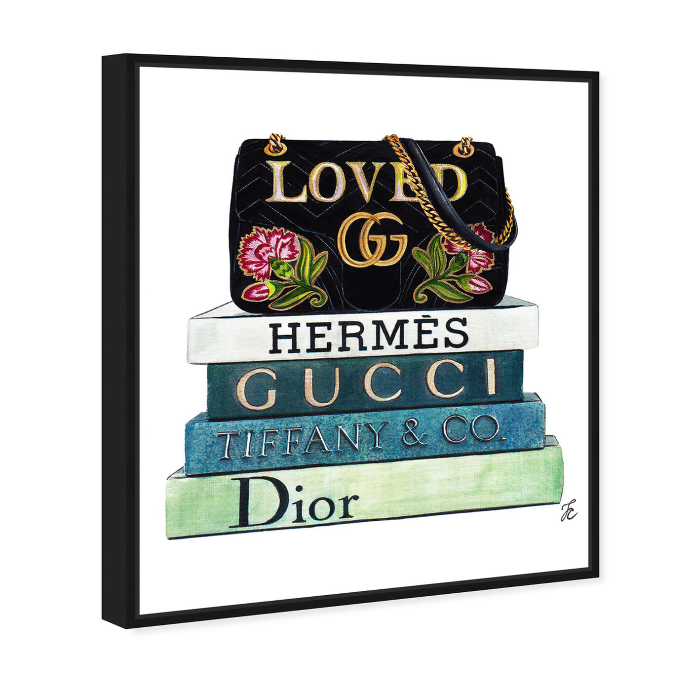 Angled view of Doll Memories - Loved Bag and Fashion Books featuring fashion and glam and handbags art.