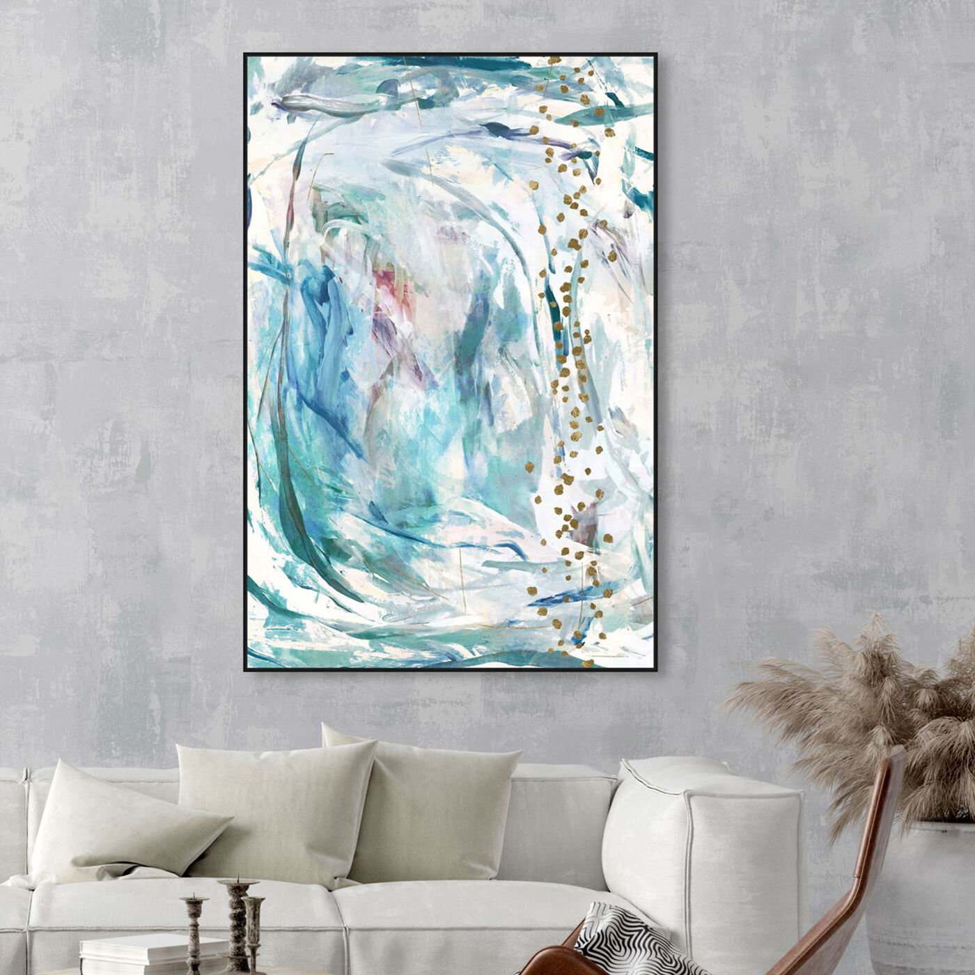 Hanging view of Sunrise of our Love featuring abstract and paint art.