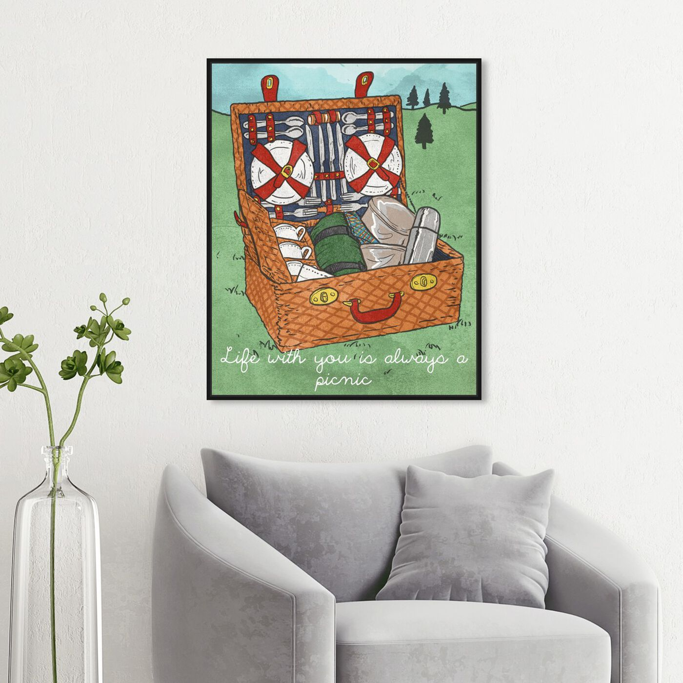 Hanging view of Always a Picnic featuring entertainment and hobbies and camping art.