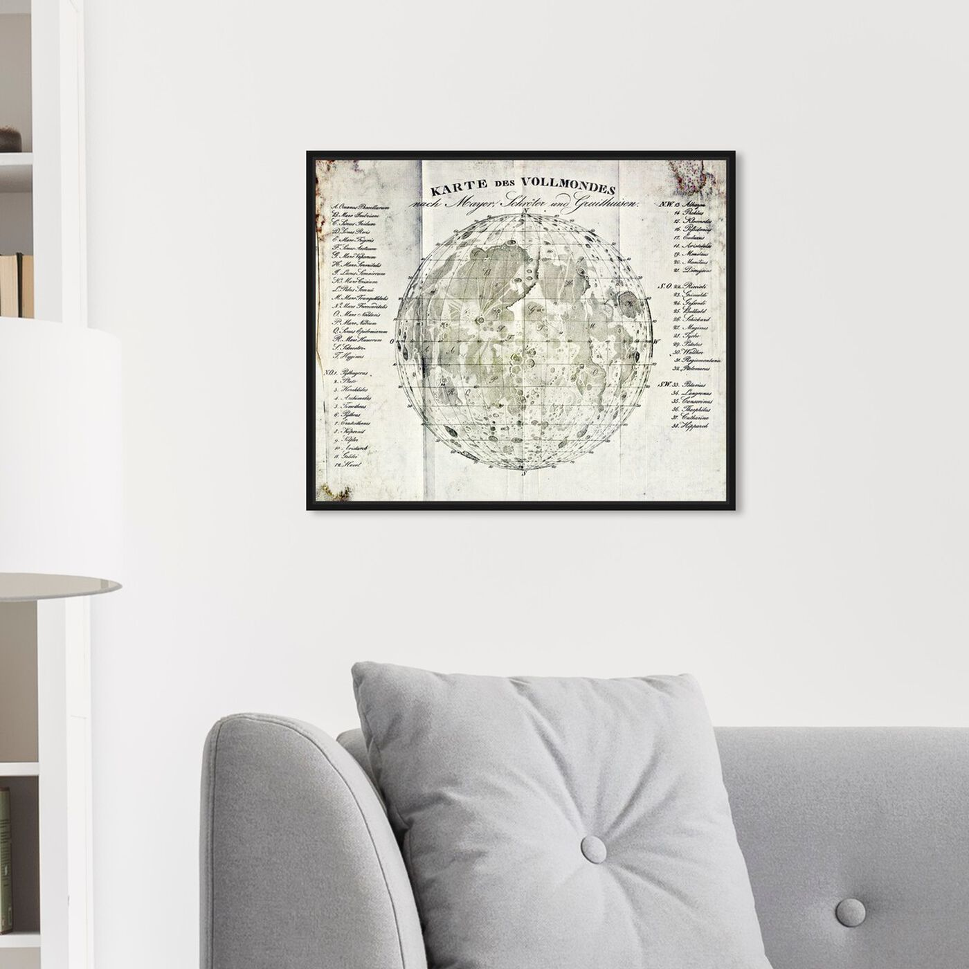 Hanging view of Vollmonde featuring astronomy and space and moons art.
