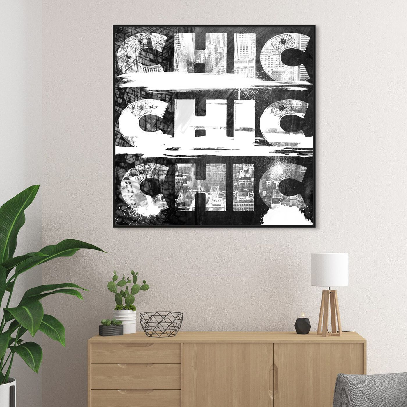 Hanging view of Triple City Chic featuring typography and quotes and beauty quotes and sayings art.
