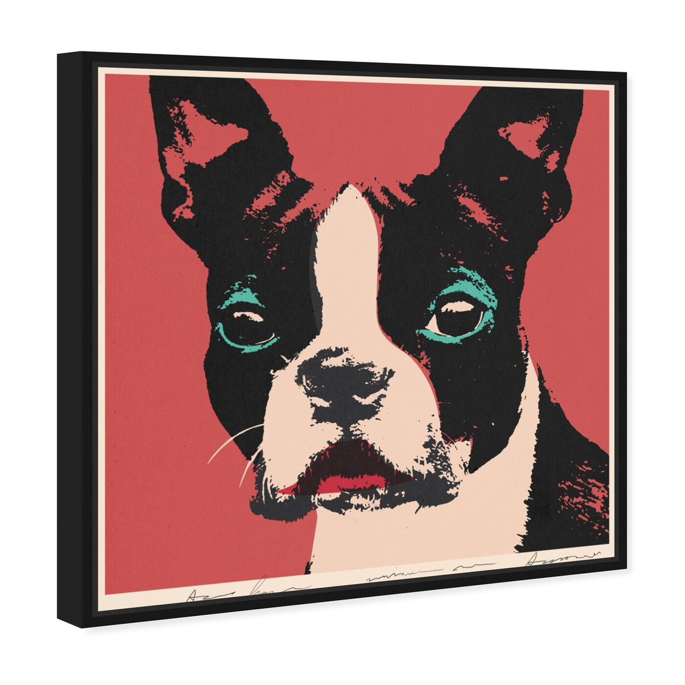 Angled view of Doggy Warhol featuring animals and dogs and puppies art.