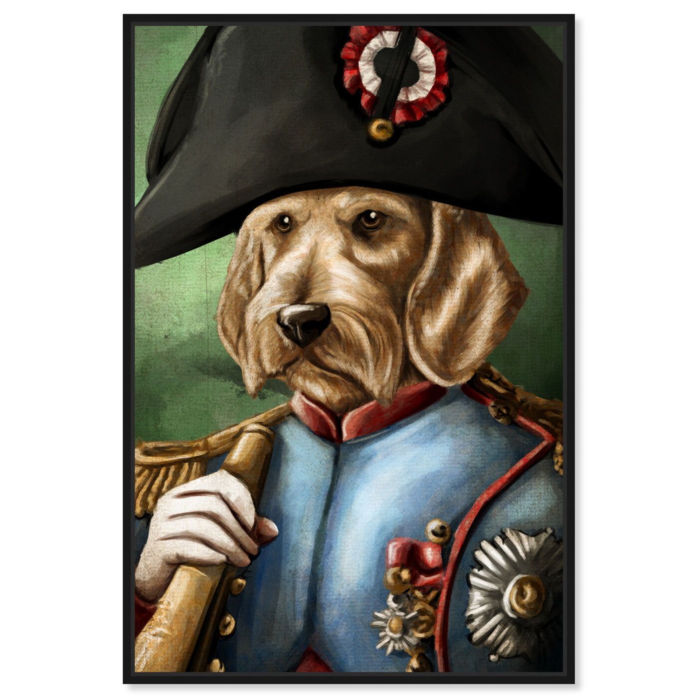 Front view of Sargent Wired Dashchund featuring animals and dogs and puppies art.